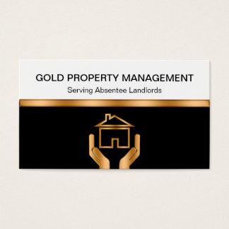 Tarjetas de visita de la gestión de la propiedad