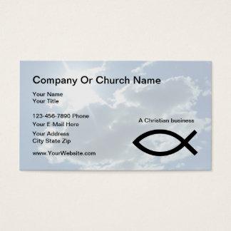 Tarjetas de visita de la iglesia o del cristiano