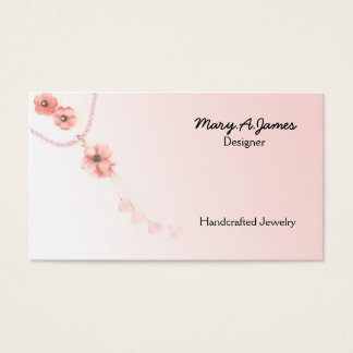 Tarjetas de visita de la joyería