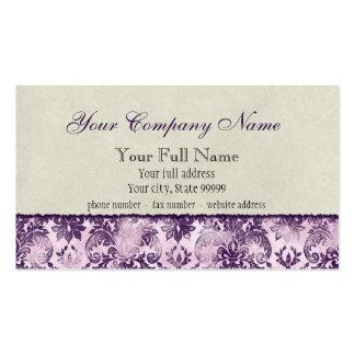 Tarjetas de visita de la lila de Fleur di Lys Dama