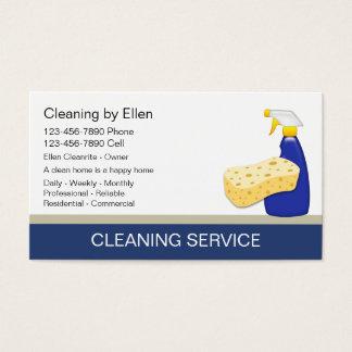 Tarjetas de visita de la limpieza