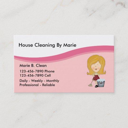 tarjetas de visita de la limpieza de la casa zazzle es