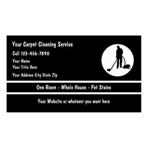 Tarjetas de visita de la limpieza de la moqueta