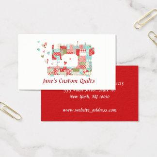 Tarjetas de visita de la máquina de coser de