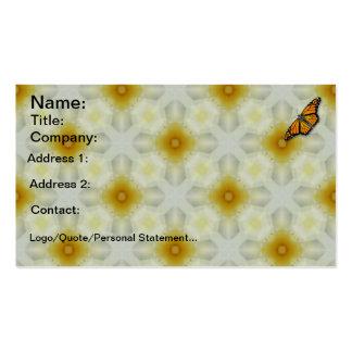 Tarjetas de visita de la mariposa de monarca