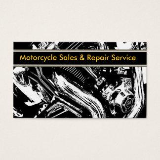 Tarjetas de visita de la motocicleta