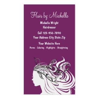Tarjetas de visita de la peluquería de la belleza