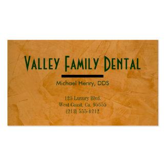 Tarjetas de visita de la práctica dental