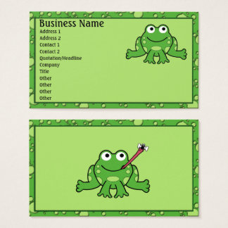 Tarjetas de visita de la rana