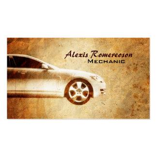 Tarjetas de visita de la reparación del coche