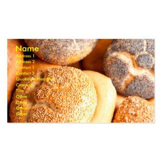 tarjetas de visita de la repostería y pastelería