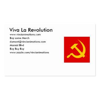Tarjetas de visita de la revolución del La de Viva