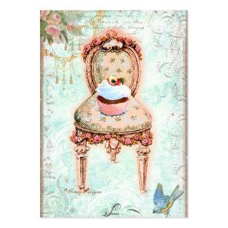 Tarjetas de visita de la silla del Victorian de la