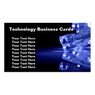 Tarjetas de visita de la tecnología