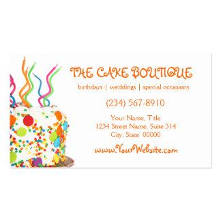 Tarjetas de visita de la torta