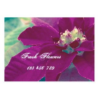 Tarjetas de visita de las flores frescas