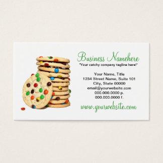 Tarjetas de visita de las galletas
