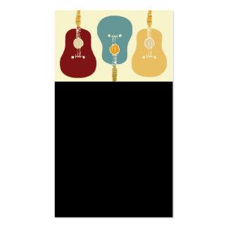 Tarjetas de visita de las guitarras - negro
