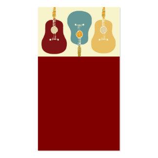 Tarjetas de visita de las guitarras - rojo