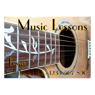 Tarjetas de visita de las lecciones de música