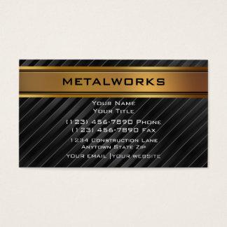 Tarjetas de visita de las trabajos de metalistería