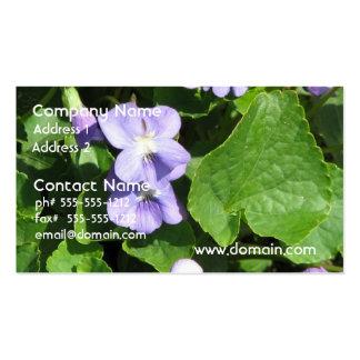 Tarjetas de visita de las violetas