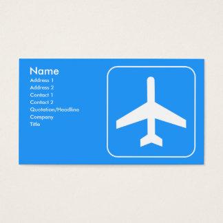 Tarjetas de visita de línea aérea