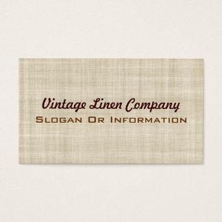 Tarjetas de visita de lino del vintage