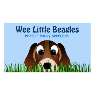 Tarjetas de visita de los criadores de perros del