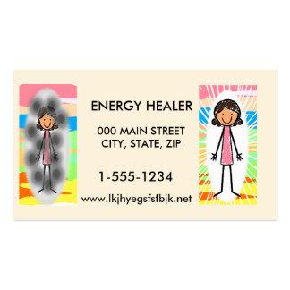 Tarjetas de visita de los curadores de la energía