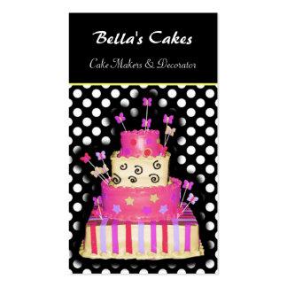 Tarjetas de visita de los fabricantes de la torta