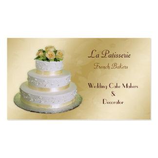 tarjetas de visita de los fabricantes del pastel d