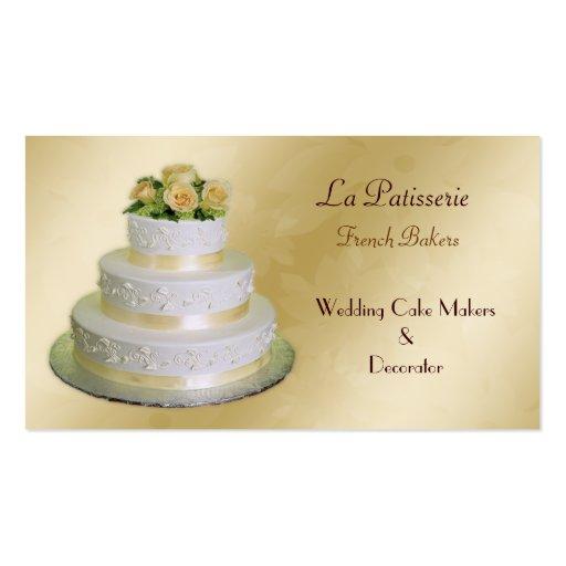 tarjetas de visita de los fabricantes del pastel