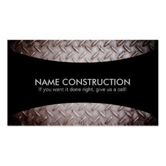 Tarjetas de visita de los lemas de la construcción