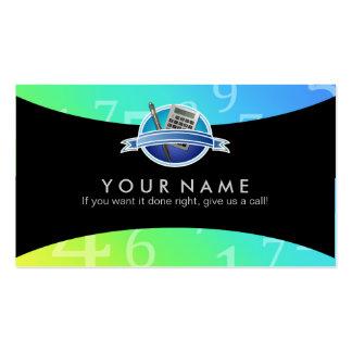 Tarjetas de visita de los lemas del contable