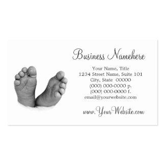 Tarjetas de visita de los pies del bebé