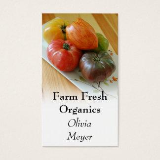 Tarjetas de visita de los tomates de la herencia