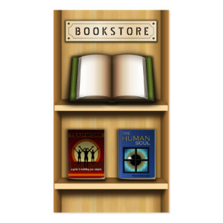Tarjetas de visita de madera de la librería de la