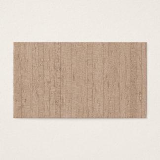Tarjetas de visita de madera del grano