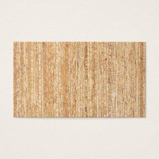 Tarjetas de visita de madera del grano del vintage