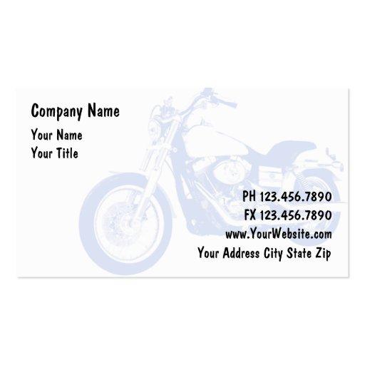 Tarjetas de visita de moto