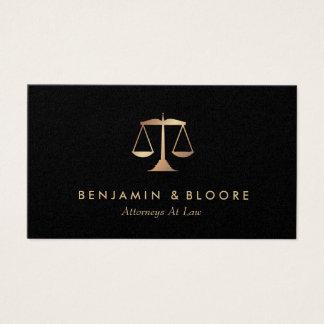 Tarjetas de visita de oro del abogado de la escala