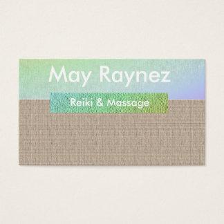 Tarjetas de visita de Reiki del masaje de la yoga
