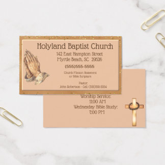 Tarjetas de visita de rogación modificadas para