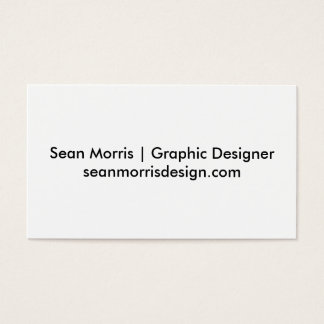 Tarjetas de visita de Sean Morris