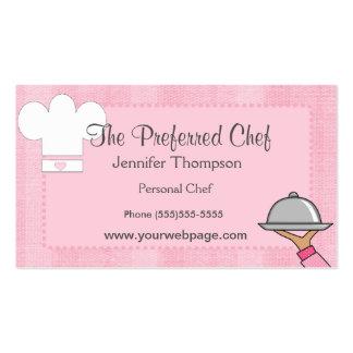 Tarjetas de visita de señora Chef