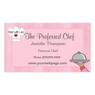 Tarjetas de visita de señora Chef Hat