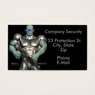 Tarjetas de visita de servicios del guardia de