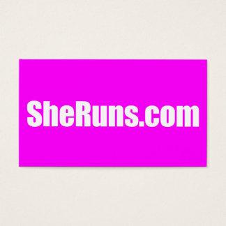 tarjetas de visita de SheRuns.com
