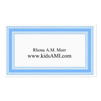 Tarjetas de visita decorativas azules claras de la